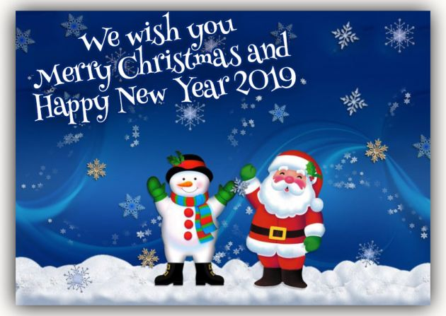 Merry Christmas and a happy new year to all from us